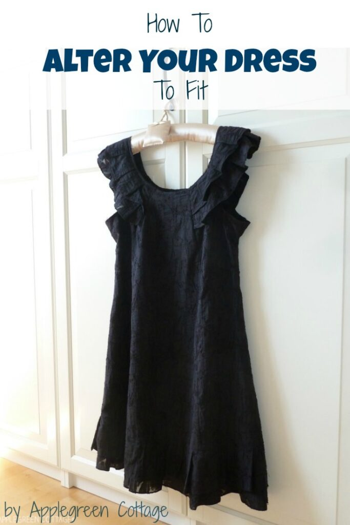 What to do to make an A-line dress fit again. It's a totally unprofessional, improvised solution - but it works!