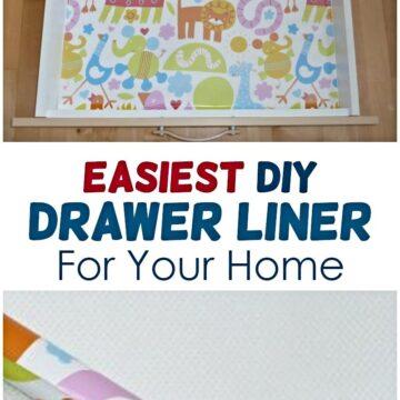 easy diy drawer liner