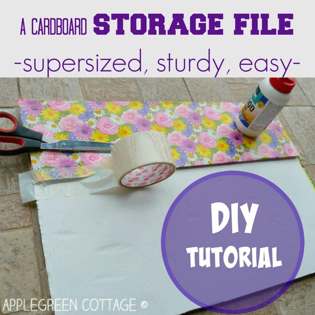 diy cardboard storage for flat files