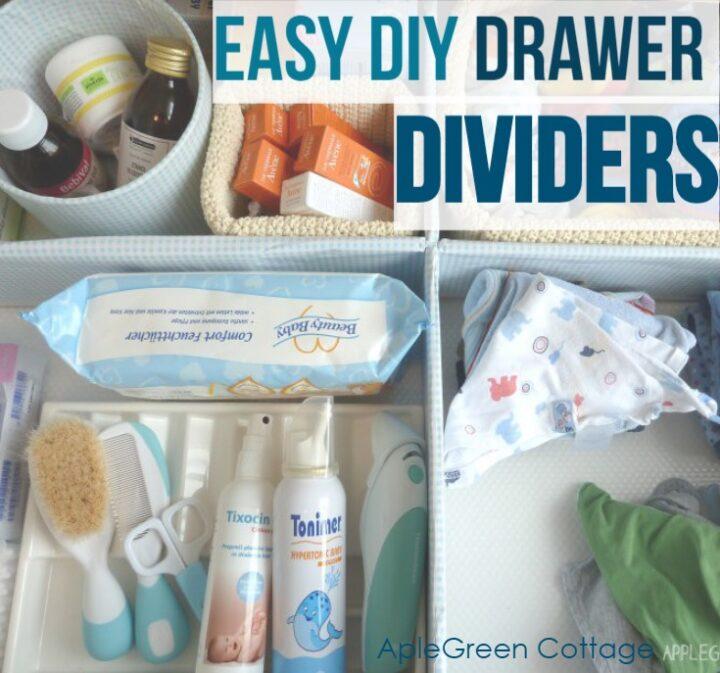 easy diy drawer divider