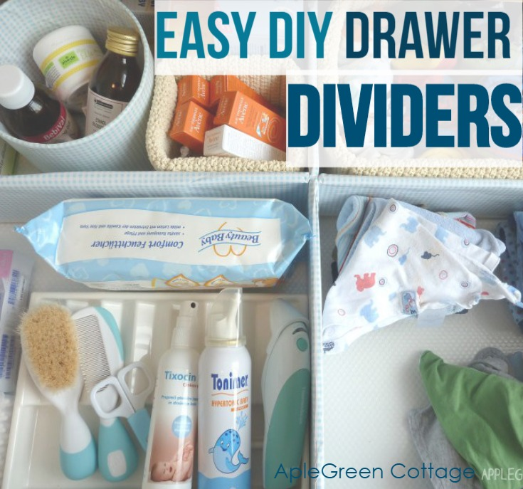 diy drawer dividers cardboard
