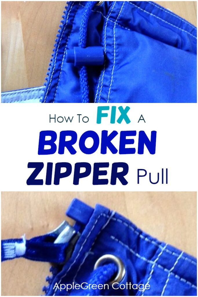 how to fix a broken zipper
