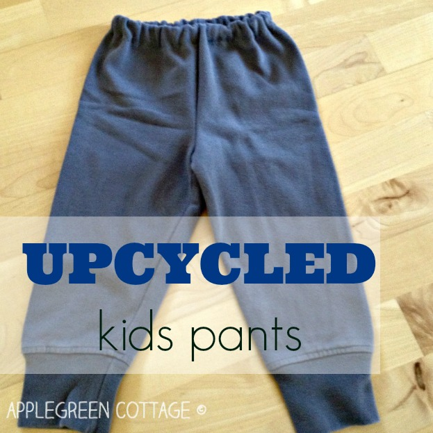 upcycled pants made from an old sweater