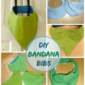 homemade bandana bibs