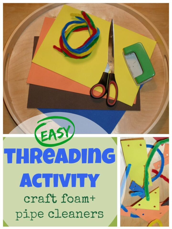 DIY Play Set - Threading Activity For Toddlers