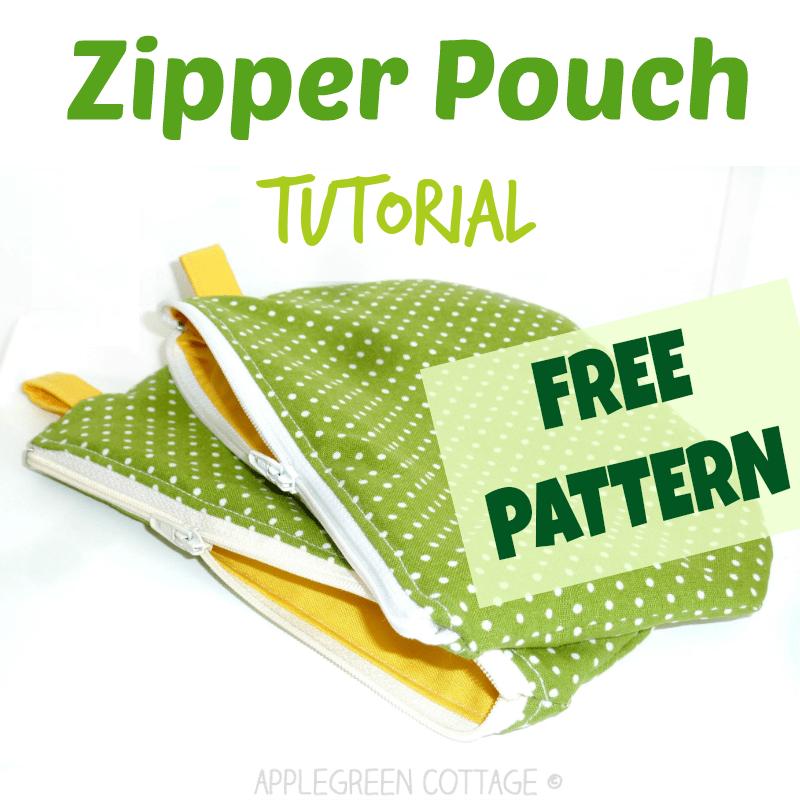 free zipper bag pattern and tutorial