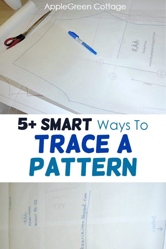 how to trace a sewing pattern