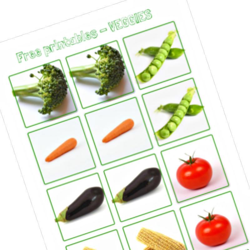 vegetable printables