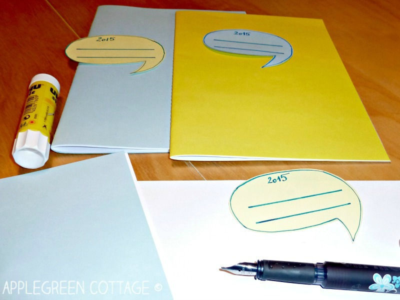 DIY notebook - add your own tags