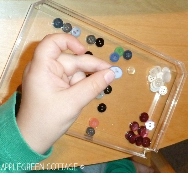 button sorting activity