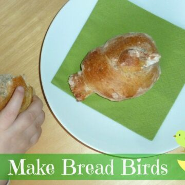 homemade bird shaped bread