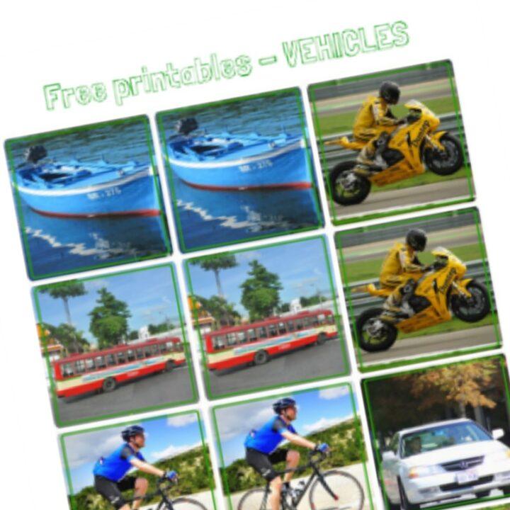 Free Printables Series - Vehicles Printables