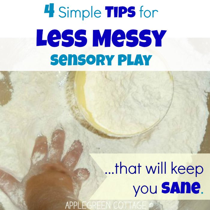 surviving the sensory play - tips for easy cleanup