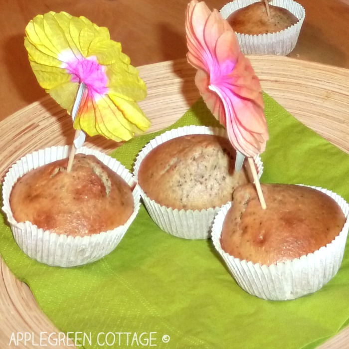 decorated kid-made cupcakes