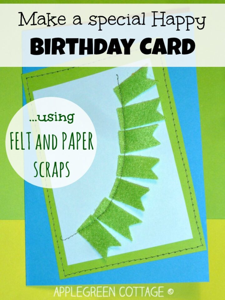 How to Make a Happy Birthday Card - Using Scraps