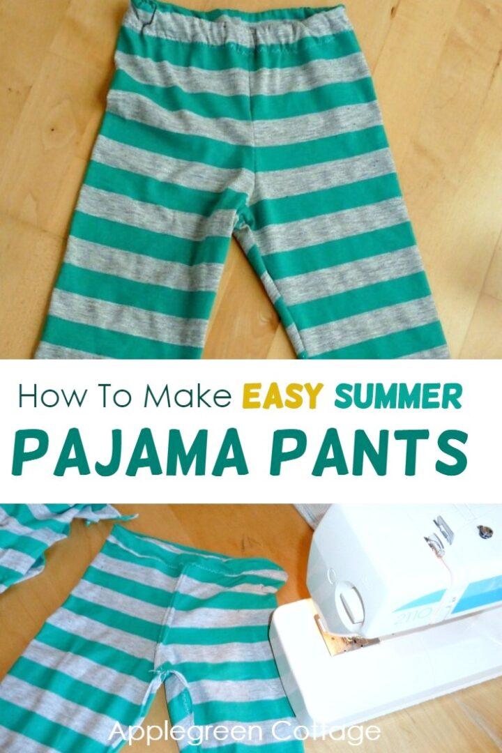 Diy Pajama Pants - How to Make Summer Pajama Pants For Kids