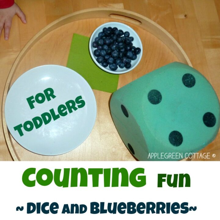 COUNTING with dice - Learning games for toddlers