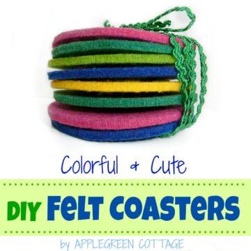 Colorful DIY Felt Coasters Tutorial
