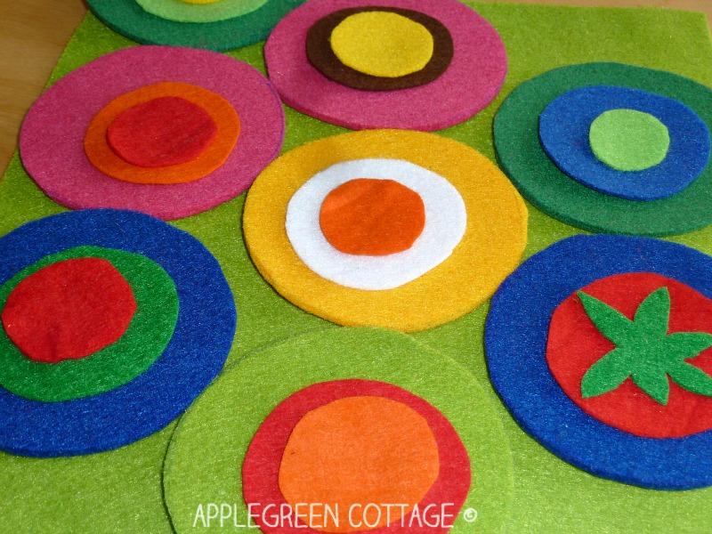sewing diy felt coasters