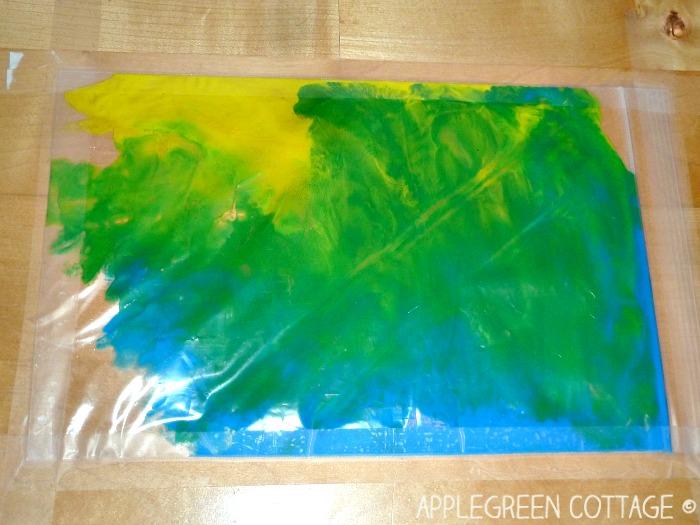 ziplock painting arts for kids