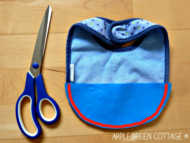 how to make a pocket bib for toddlers