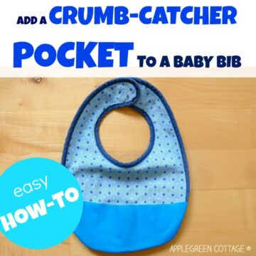 how to add a crumb catcher to a bib