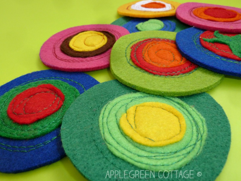 diy coasters to make from felt