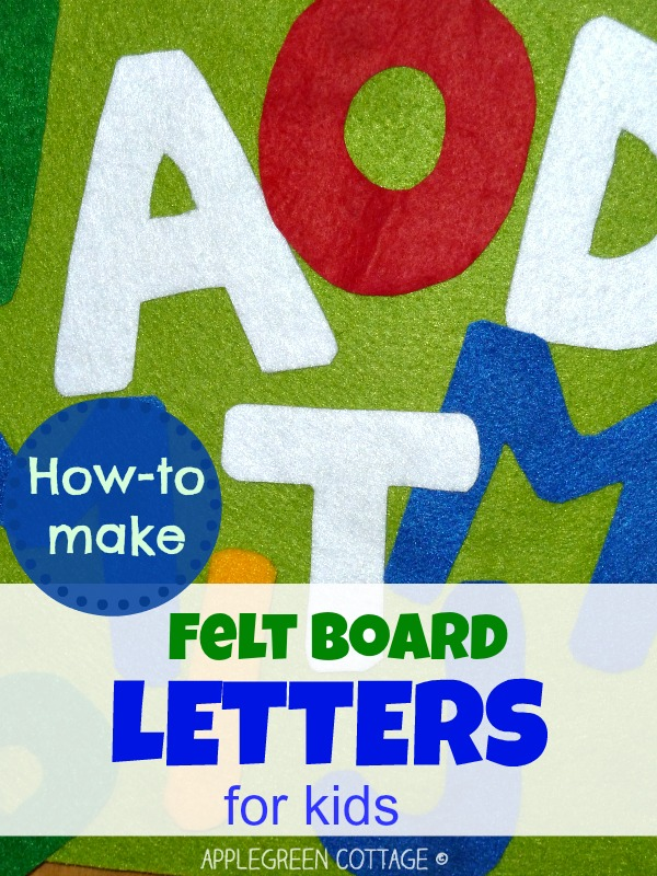 DIY letters from felt