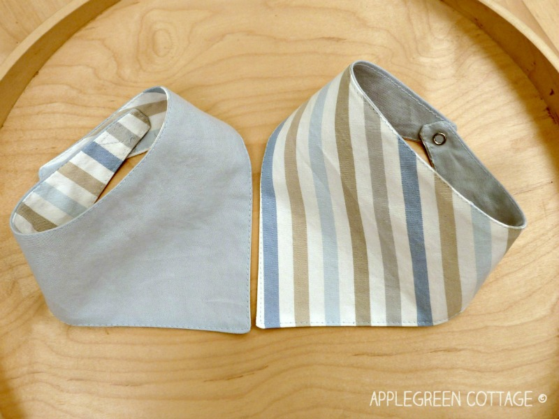 free pattern and tutorial for baby bandana bibs