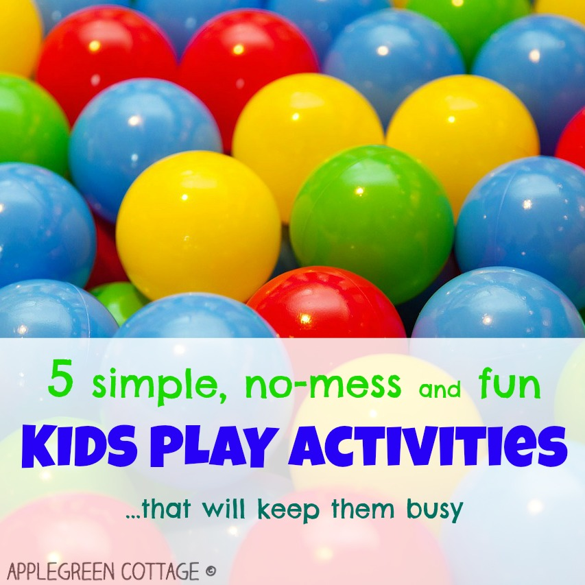 5 simple activities to keep kids busy … for quite some time