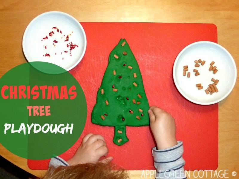 Christmas tree – from playdough