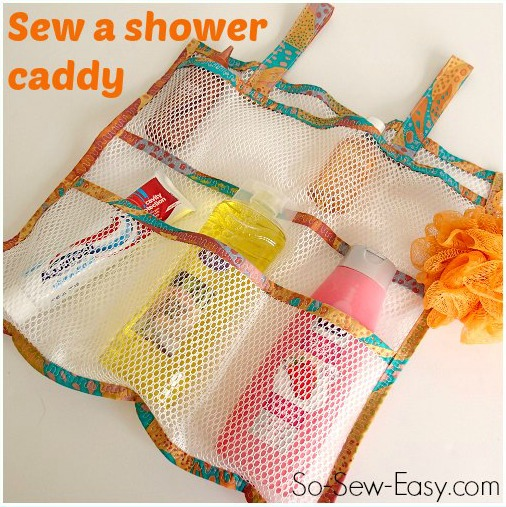 mesh shower caddy by So Sew Easy - featured on AppleGreen Cottage