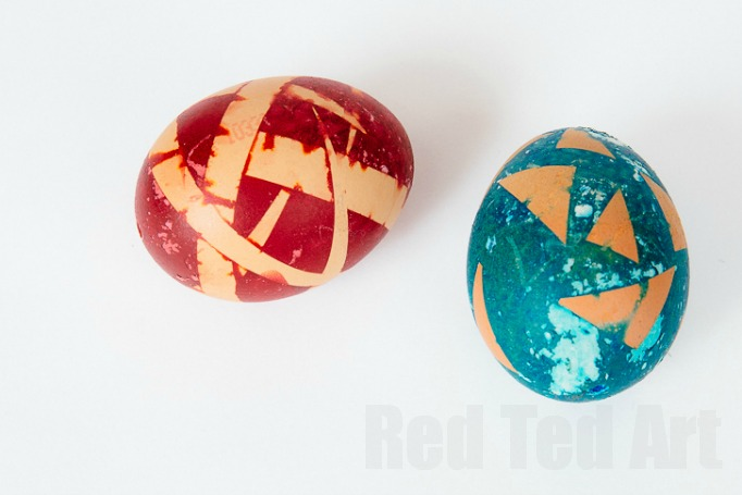 food dye colored easter eggs