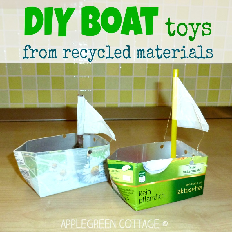 how to make a boat from juice boxes