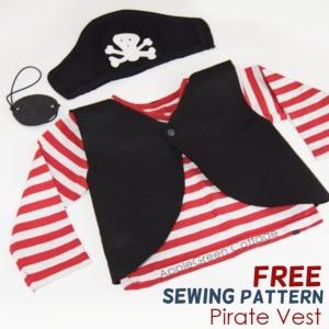 DIY kids pirate costume for Halloween