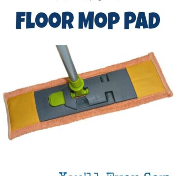 floor mop pad to sew