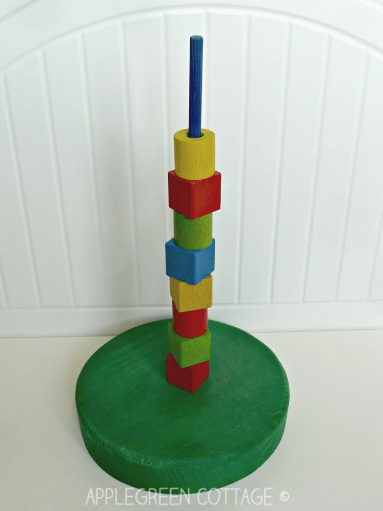 homemade stacking toy