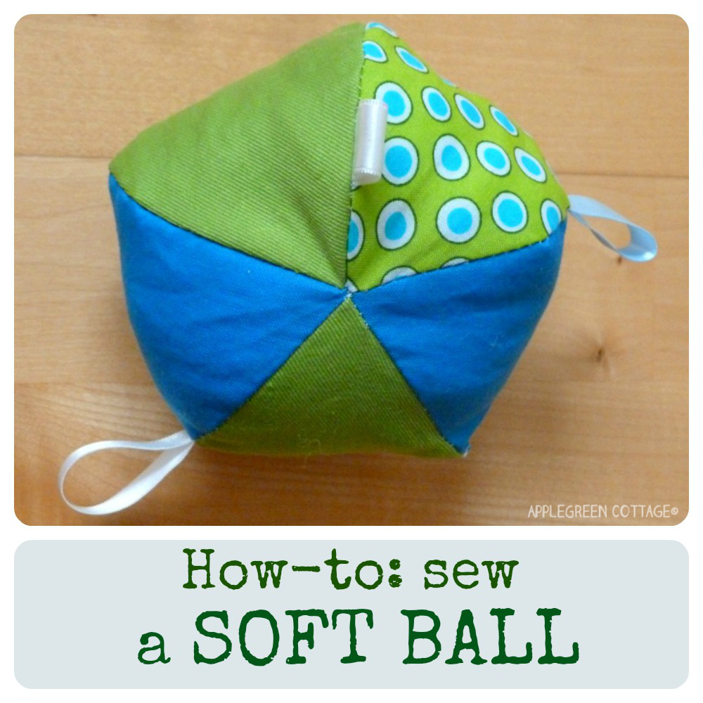 DIY toys for babies - how to make a soft fabric ball