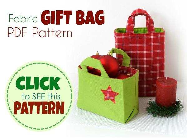 diy fabric gift bag - sewing pattern