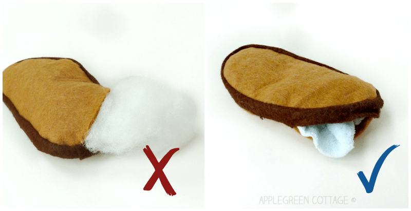How to sew cute felt slices of French loaf bread. Easy to make, really fast - and totally adorable! You also get tips on working with felt and on stuffing - and there's a felt bread template to make your sewing even quicker!