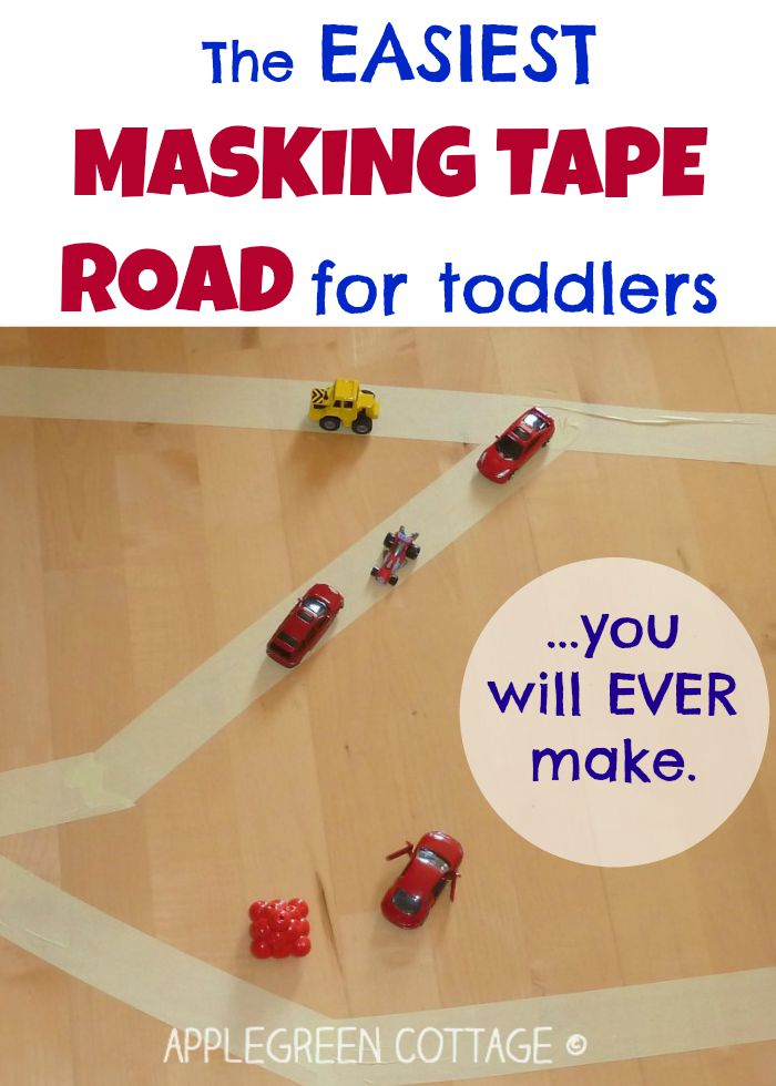 The easiest masking tape road for kids {…you'll ever make}