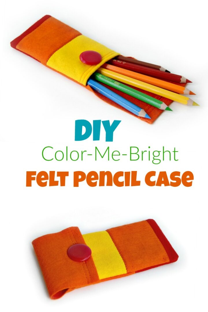 How To Make A Diy Felt Pencil Case