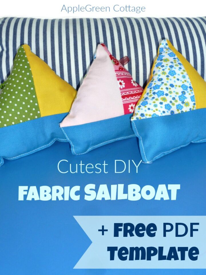 Cutest DIY Fabric Sailboat Toy