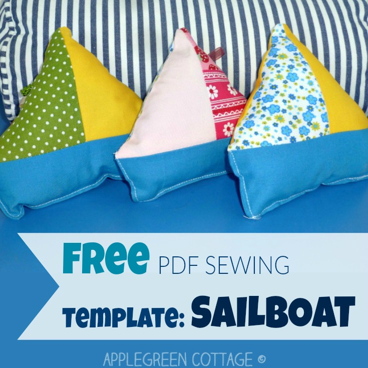 Get your free printable PDF template and sew tons of these adorable softies! These homemade sailboat toys are a great and quick beginner sewing project and so much fun to sew!