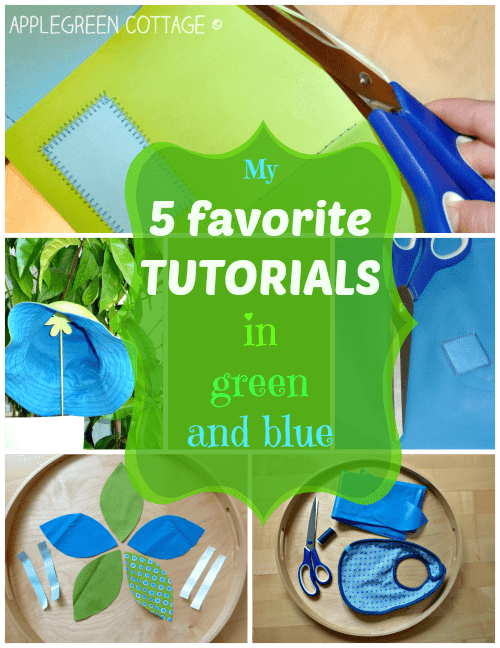 My Top 5 Sewing Tutorials – green and blue
