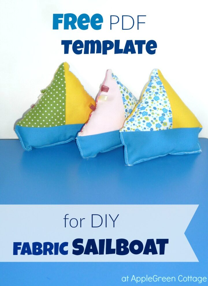 Free Sailboat Template - Fabric Sailboat Toy