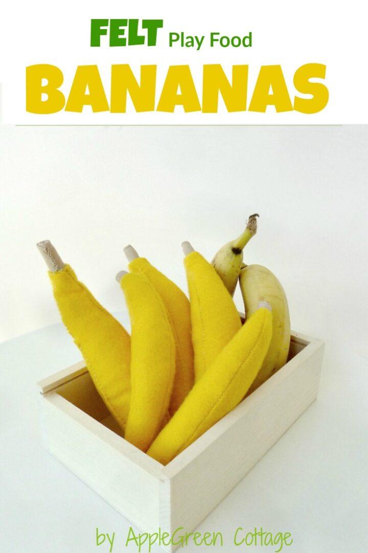 Felt Play Food - Felt Banana {And A Bit About Felt}