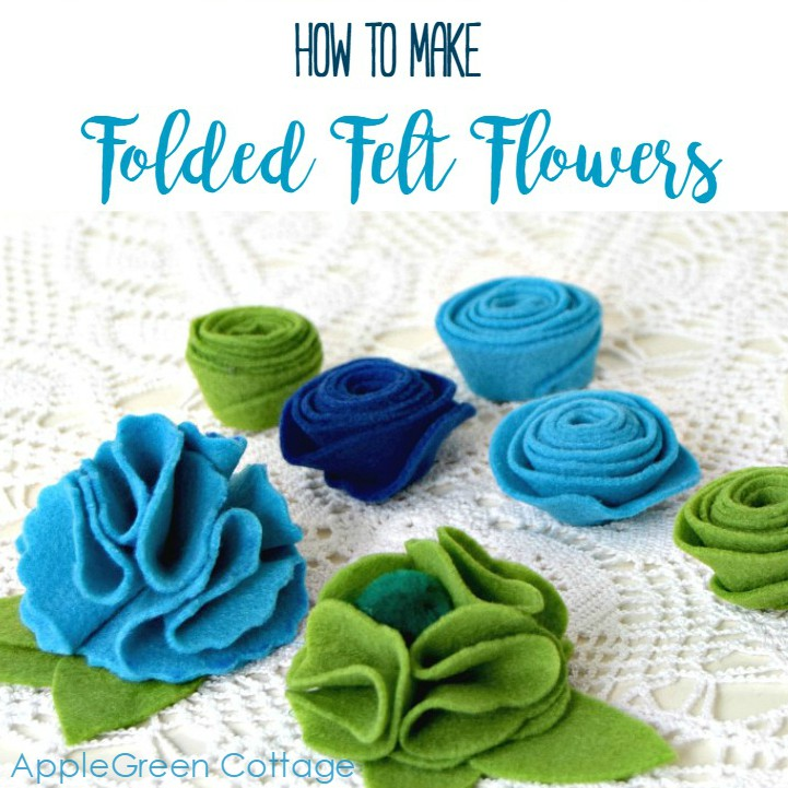 how to make folded felt flowers