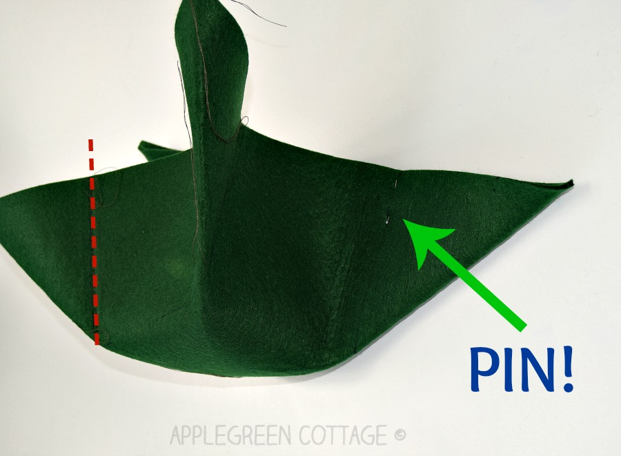 sewing step for diy storage box