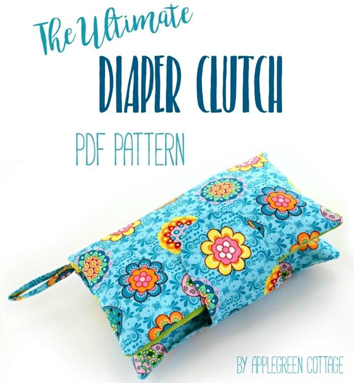 diaper clutch pattern or nappy wallet pattern